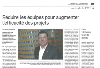 Les Affaires_october 2011